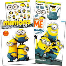 15 minions pictures to print and color. Amazon Com Minions Coloring And Activity Book Set With Stickers 2 Books Toys Games