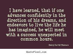 Thoreau Dream Quote Best of Quotes By Henry David Thoreau QuotePixel
