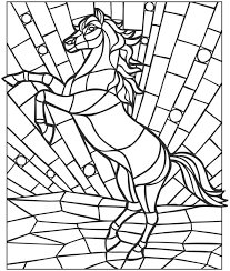 Small Picture Mosaic coloring pages horse ColoringStar