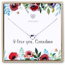 home the love of granddaughter dainty heart pendant necklace in silver