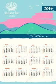 Travel Calendar Calendar 2017 With Vector Icon Travel Company Tourist Trip And