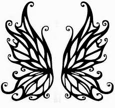 Printable Fairy Wings Template Fairy Wings Tattoo Stencil 28