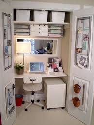home office in a closet. Image Detail For -Small Space Home Office, Small Place Style: Ideas Your Office In A Closet