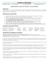 Resume Samples For Manufacturing Jobs Manufacturing Resume Samples