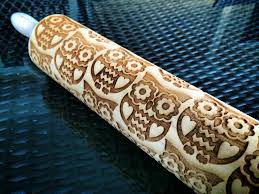 Patterned Rolling Pin New CCU Undercover Embossed Rolling Pins Bezalel Art Shop Go Bake