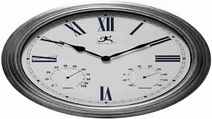 outdoor large atomic wall clock accurate indoor thermometer humidity pool p