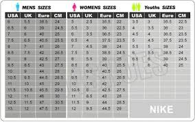 Air Max Thea Size Chart Pin On Quinceañera
