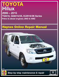 Haynes Online - Toyota Hi-Lux Automotive Repair Manual (E92738)