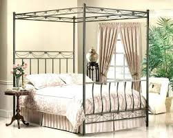 Iron Canopy Beds Wrought Iron Canopy Bed Black Metal King Frame Full ...