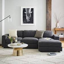 urban loft northern home furniture. Urban 2-Piece Chaise Sectional - Charcoal (Heathered Tweed) | West Elm · Apartment FurnitureHome Loft Northern Home Furniture
