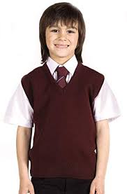 BOYS SCHOOL UNIFORM <b>SLEEVELESS</b> V NECK WOOL MIX ...