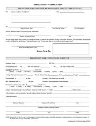 Employment Verification Templates Employment Verification Form Fill Online Printable