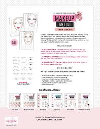 makeup artist face chart back cover face chart female almond eyes