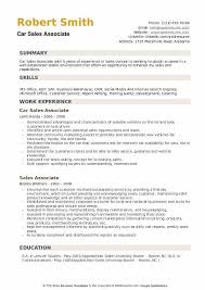 Car Sales Associate Resume Samples | Qwikresume