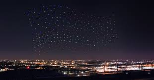 Intel Light Intel Flew 300 Drones In Sync To Create An Epic Light Show