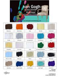 Van Gogh Fossil Paint Color Chart In 2019 Painting Antique