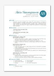 Modern Word Resume Template Modern Microsoft Word Resume Template Alicia By Inkpower On