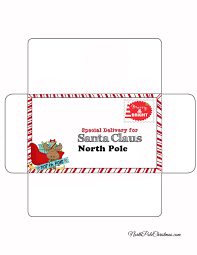 Dont panic , printable and downloadable free simple envelope to santa template sleigh to north pole address 30 we have created for you. Special Delivery Envelope For Letter To Santa