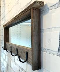 Coat Rack With Mirror Mirror Coat Rack Entryway Mirror With Four Coat Hooks Rustic 74