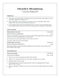 Fre Resume Templates Blank Resume Templates Free Resume Form ...