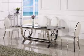 dining table marble and chair modern tables 6 chairs in