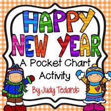 Chart On Happy New Year Happy New Year Pocket Chart Activity