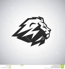 Cool Lion Logo Design Template Vector Illustration Cool Lion Logo