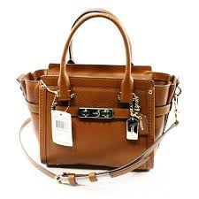 Coach NEW Brown Saddle Women s Small Swagger 21 Satchel Leather Carryall