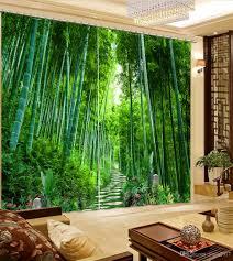 Foto Bambuswaldlandschaft Liveing Raum Fenster Vorhang Modern Für Schlafzimmer