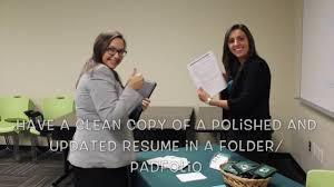 Job Fair Do S And Don Ts Resumes Youtube