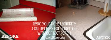 Paint Kitchen Countertops To Look Like Granite Redo Your Ugly Laminate Countertops For Under 10 With Contact Paper