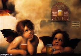 angels smoking and drinking beer angels smoking and drinking beer raphael paintings