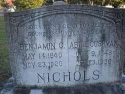 Benjamin C. Nichols (Nicholas), II (1840 - 1926) - Genealogy