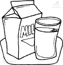 Kleurplaat Eten En Drinken Eten Kleurplaat Melk