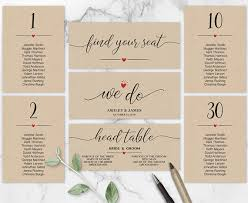 Wedding Seating Chart Template We Do Header Signs Table