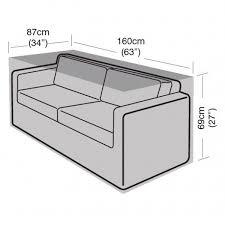 2 seater rattan sofa cover small 160cm