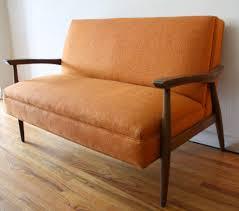 mid century modern loveseat. Mid Century Modern Loveseat Orange