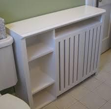 Radiator Enclosure Cabinet Custom Built For A Small Bathroom - Custom bedroom cabinets