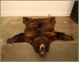 faux bear rug brown