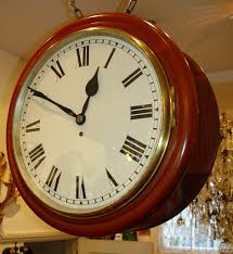 a very rare large size 18 inch english mid victorian fine quality mahogany double dial wall clock