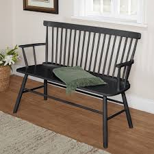 black dining bench. Simple Living Black Shelby Dining Bench