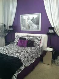 Black White Purple Bedroom Home Design