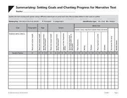 Summarizing Setting Goals And Charting Progress For
