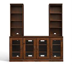 printer s large tv stand with towers pottery barn regarding tv cabinets glass doors inspirations 18