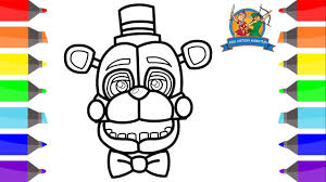 How To Draw Funtime Freddy Easy Coloring Pages For Kids Fnaf Sister