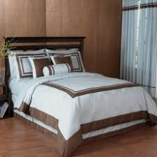 hotel collection comforter set. Merry Blue And Brown Comforter Sets Queen Chocolate Hotel Spa Collection Duvet Cover 6 Pc Bedding Set O