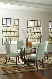 dining table parson chairs interior: interesting dining room design with cozy gray parsons chairs and glass top dining table plus loloi