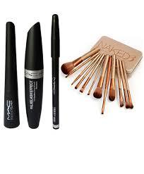 mac liquid eyeliner mascara kajal bo with urban decay brush set