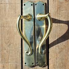 br art nouveau door pulls x 1 pair