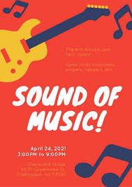 Talent Show Flyer Background Red Musical Icons Talent Show Flyer Templates By Canva